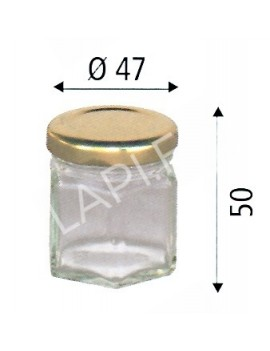 Pot verre hexagonal 50g...