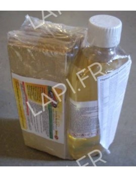 Kit solution thymol 40% vol 0.5litre + 30 support micro poreux