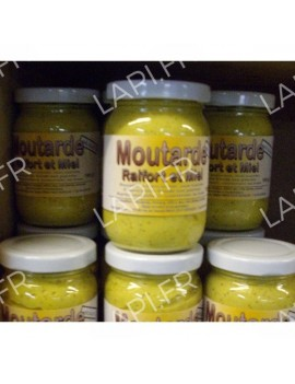 Moutarde Miel et Raifort 190g